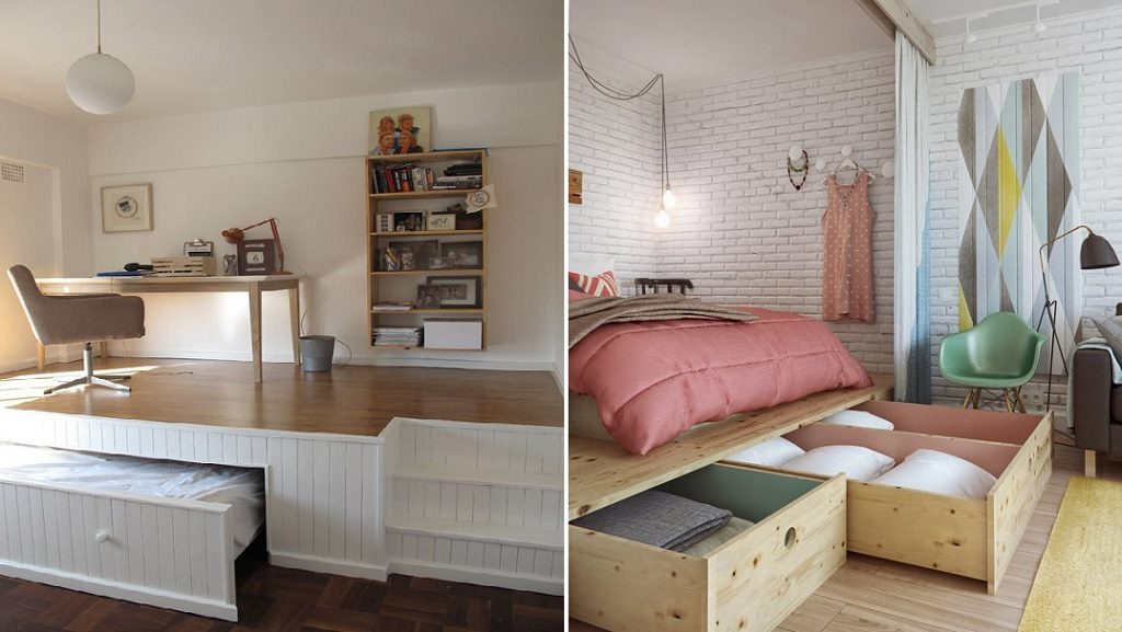 platform tiny bedroom hack