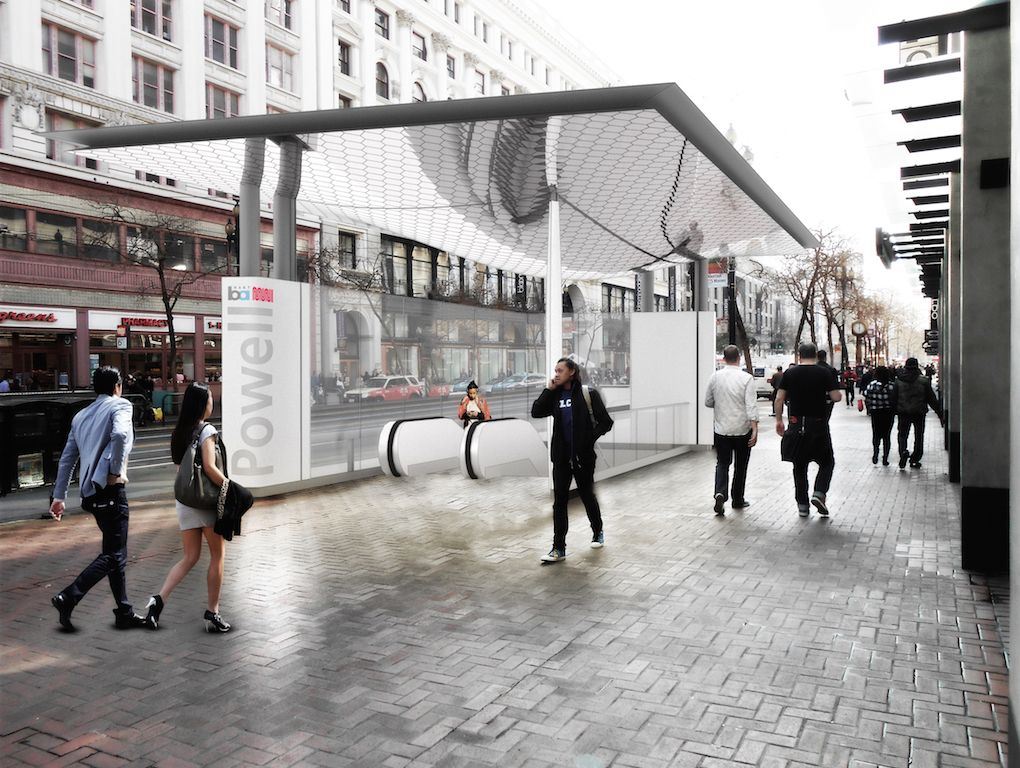 A conceptual idea for canopies from Powell BART station rendering-compressed