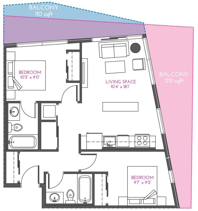 INK floorplan calgary condos 2