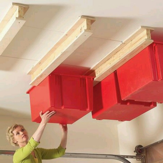 ceiling storage garage organization