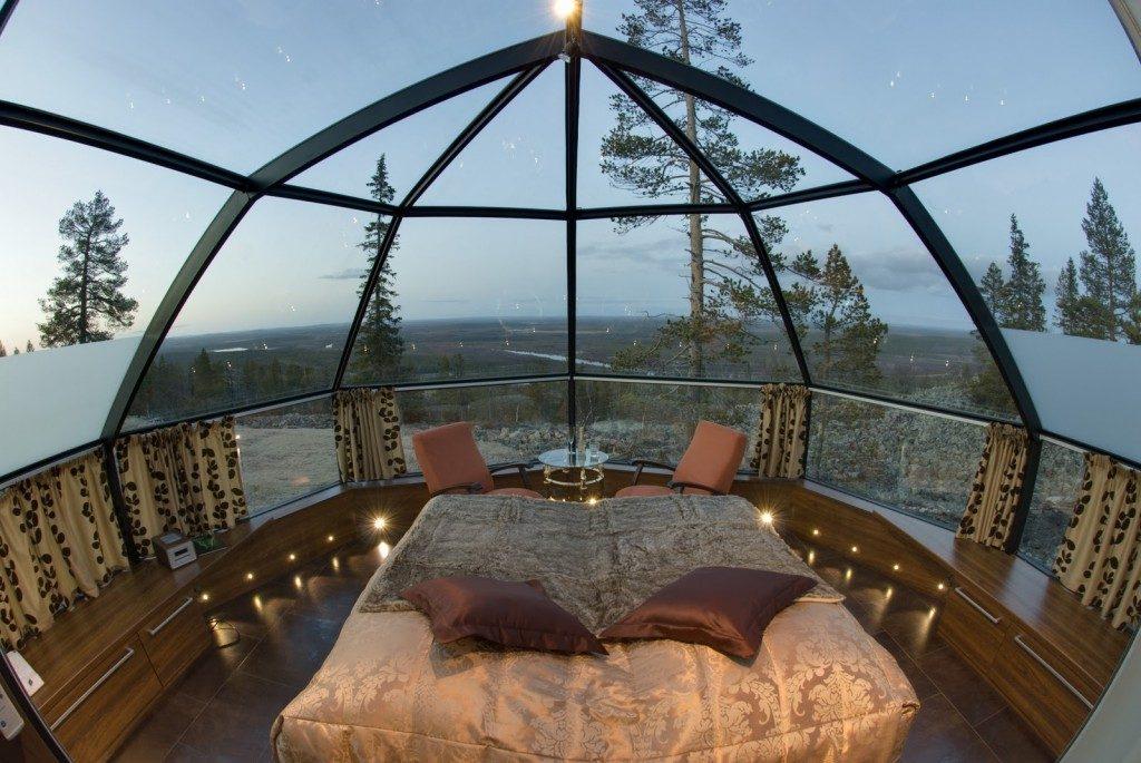 glass igloo room