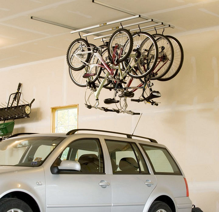 hanging bike rack
