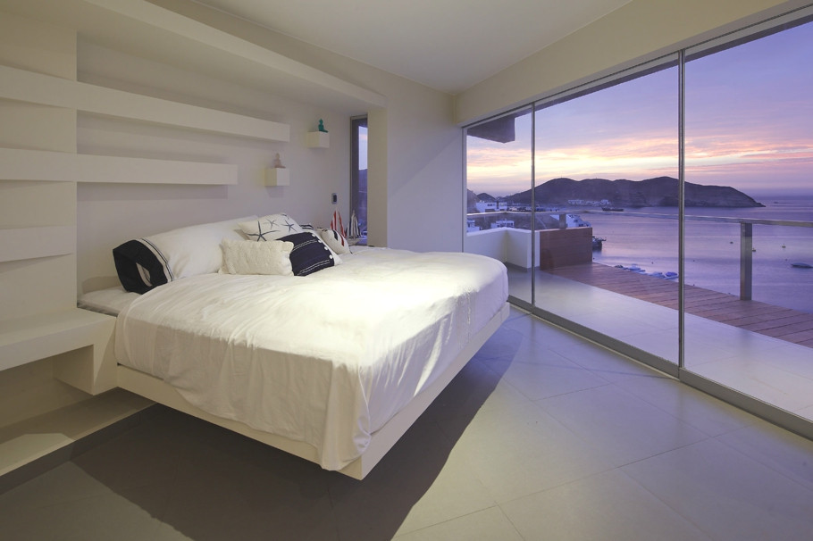 minimal ocean-side bedroom