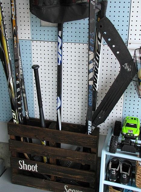 pallet storage garage hack