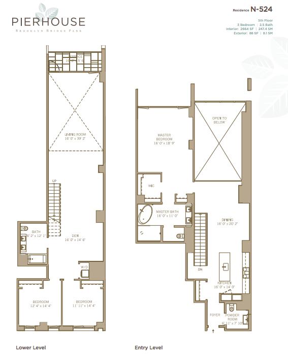 Pierhouse N524 floorplan