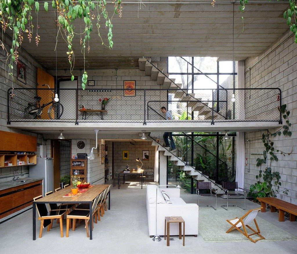 concrete loft home