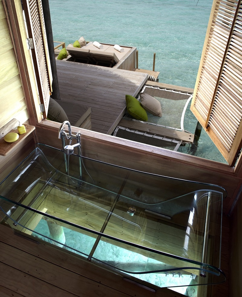 glass-bottom bathtub bathroom