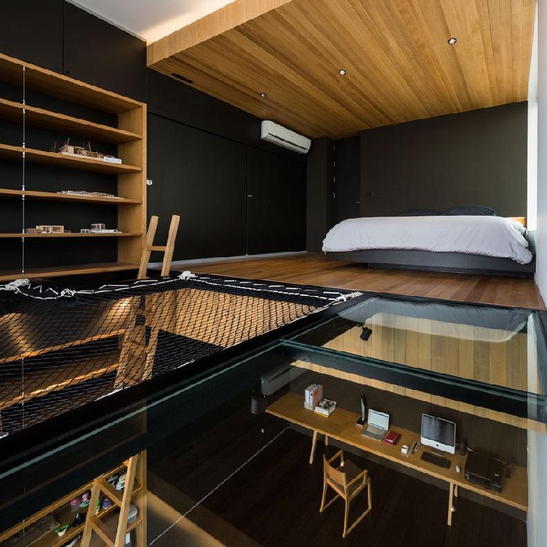 hammock floor loft bedroom