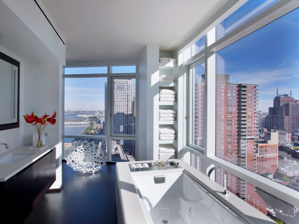 new york city penthouse bathroom