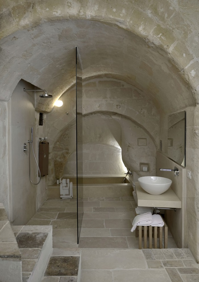 stone bathroom