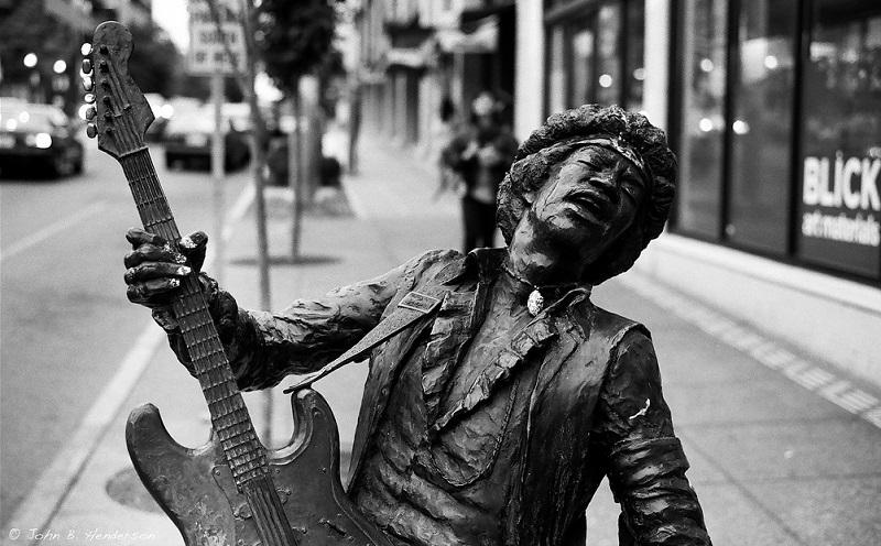 Jimi Hendrix statue Seattle