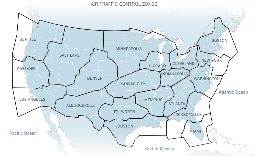 air traffic control zones