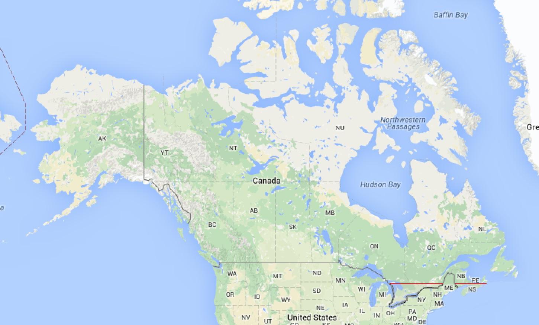 canada population map