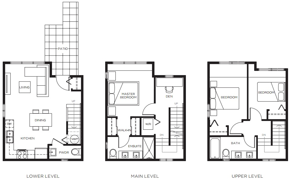 Savile Row 3-bedroom townhome plan