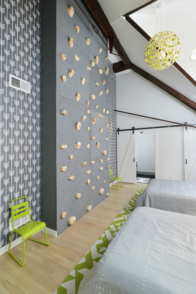 bedroom climbing wall