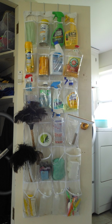 laundry room cleaning supply organization