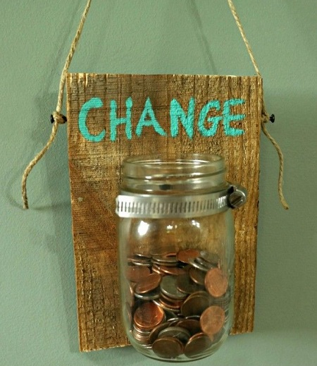 laundry room coin jar