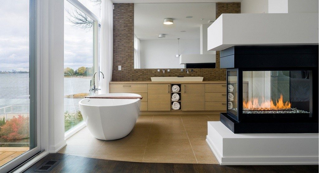 master bedroom ensuite fireplace
