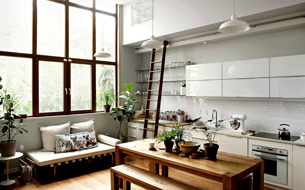 sliding ladder kitchen 2