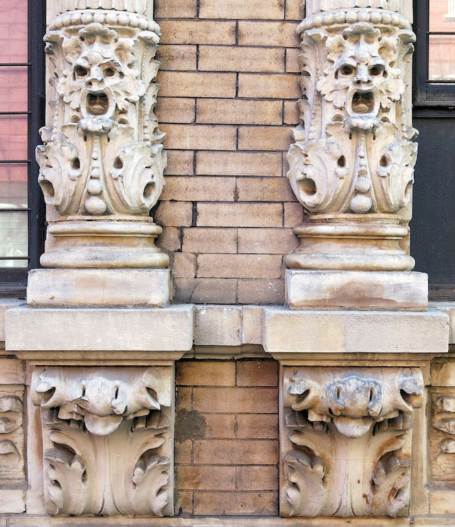 Ornate facade on Sullivan Street