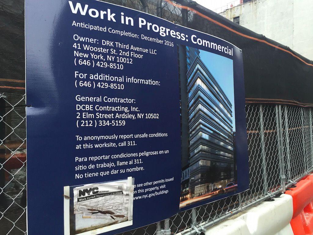 1444 third avenue construction