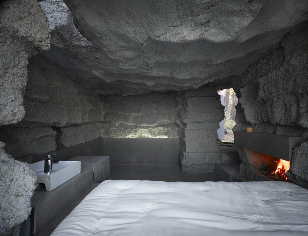 cave bedroom minimalism