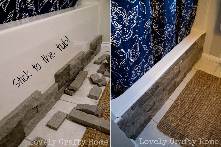 hiding eyesores in your home - bathtub airstone