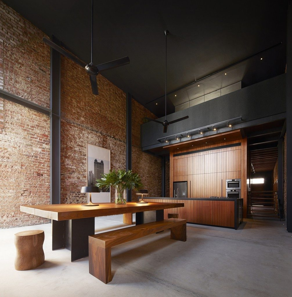 minimalism exposed brick