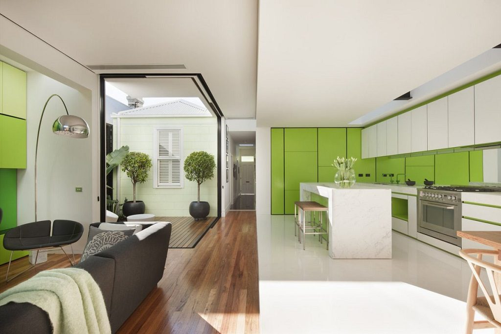 minimalist open-concept house