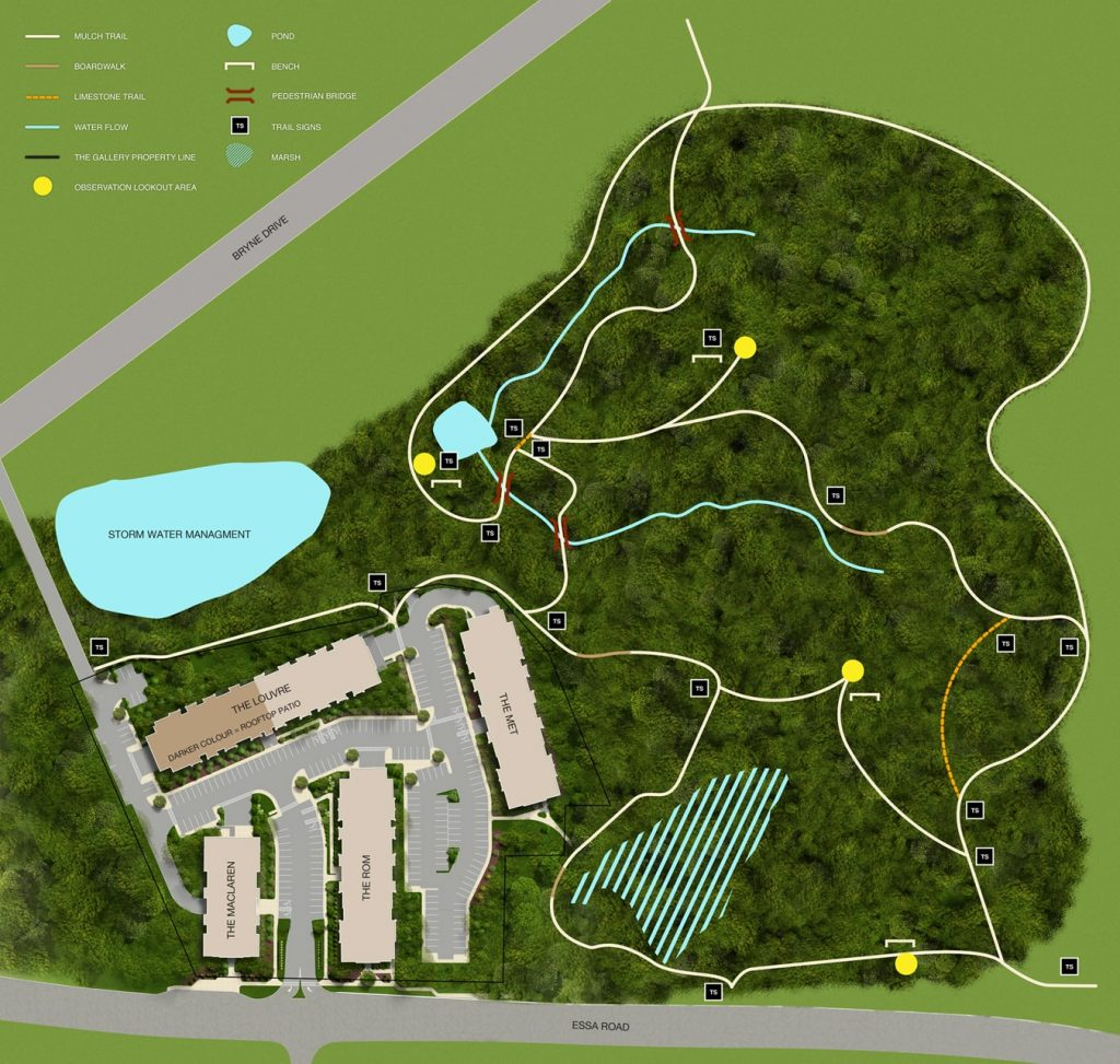 Site Plan with Trail The Gallery-min