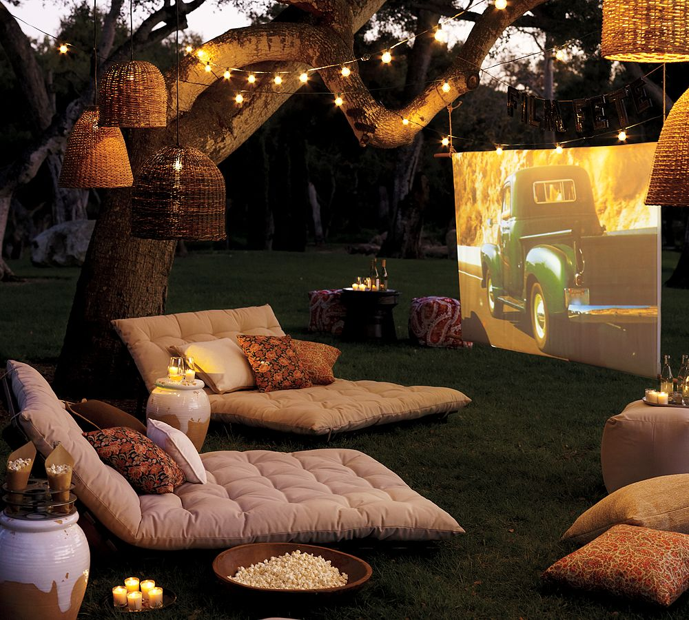 backyard diy outdoor theater