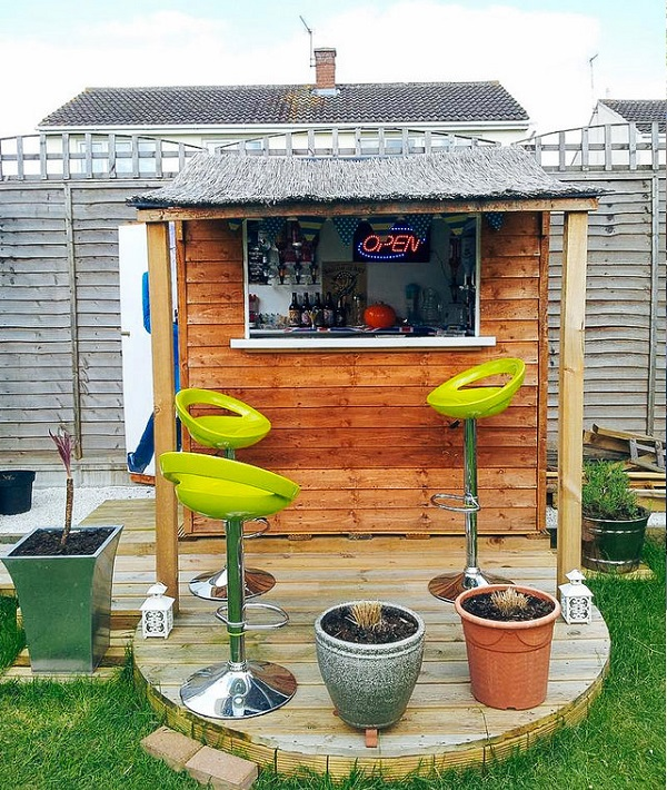 backyard shed bar