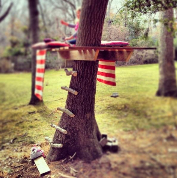 diy backyard tree house