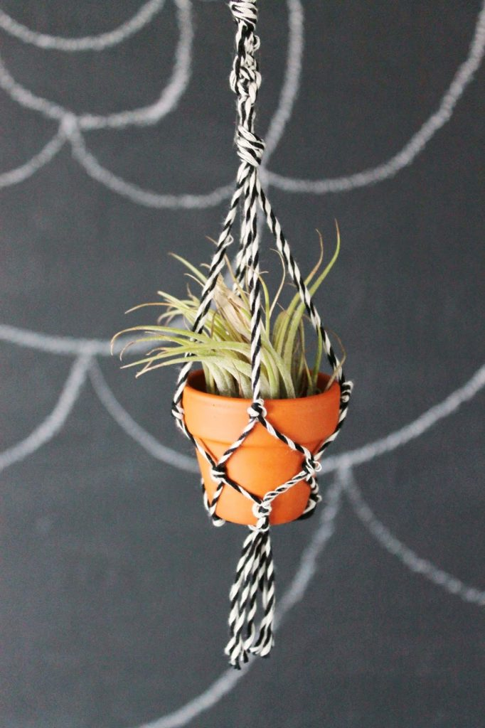 mini macrame planter