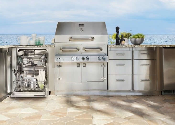 outdoor kitchen dishwasher