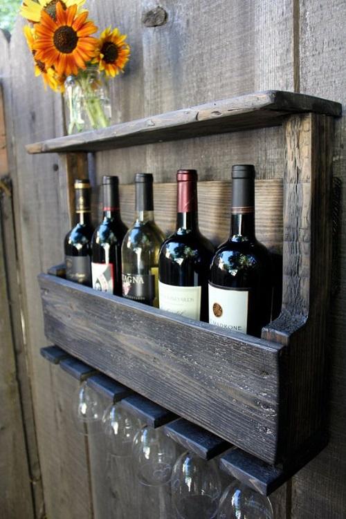 outdoor kitchen diy wine rack