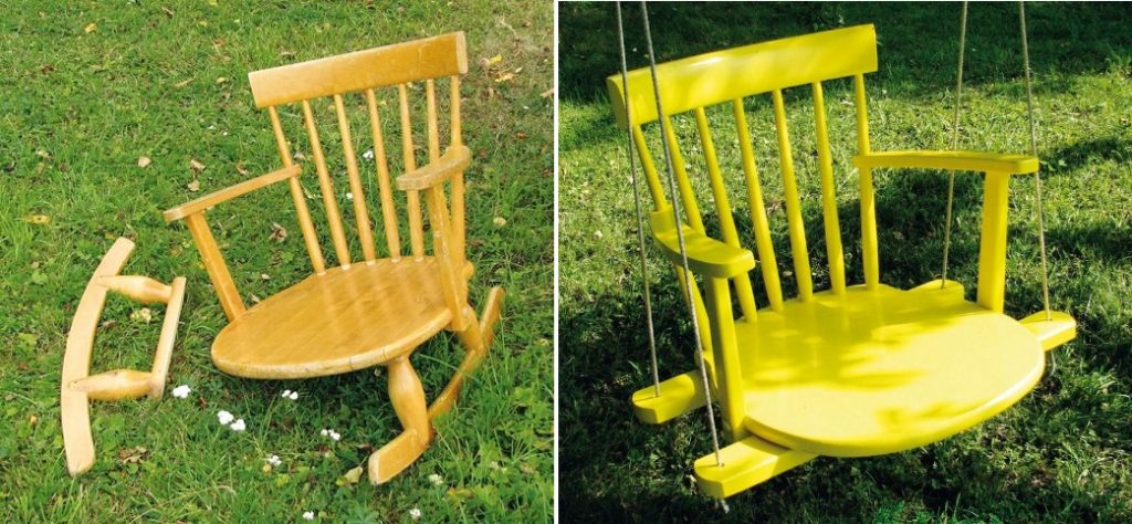 swing chair backyard