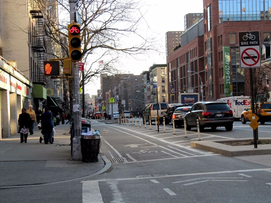 New York protected bike lanes