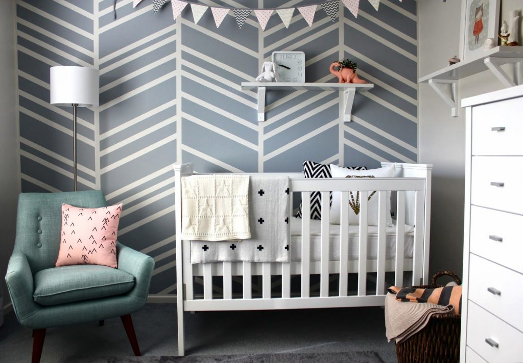 stylish kids rooms grey nursery-compressed