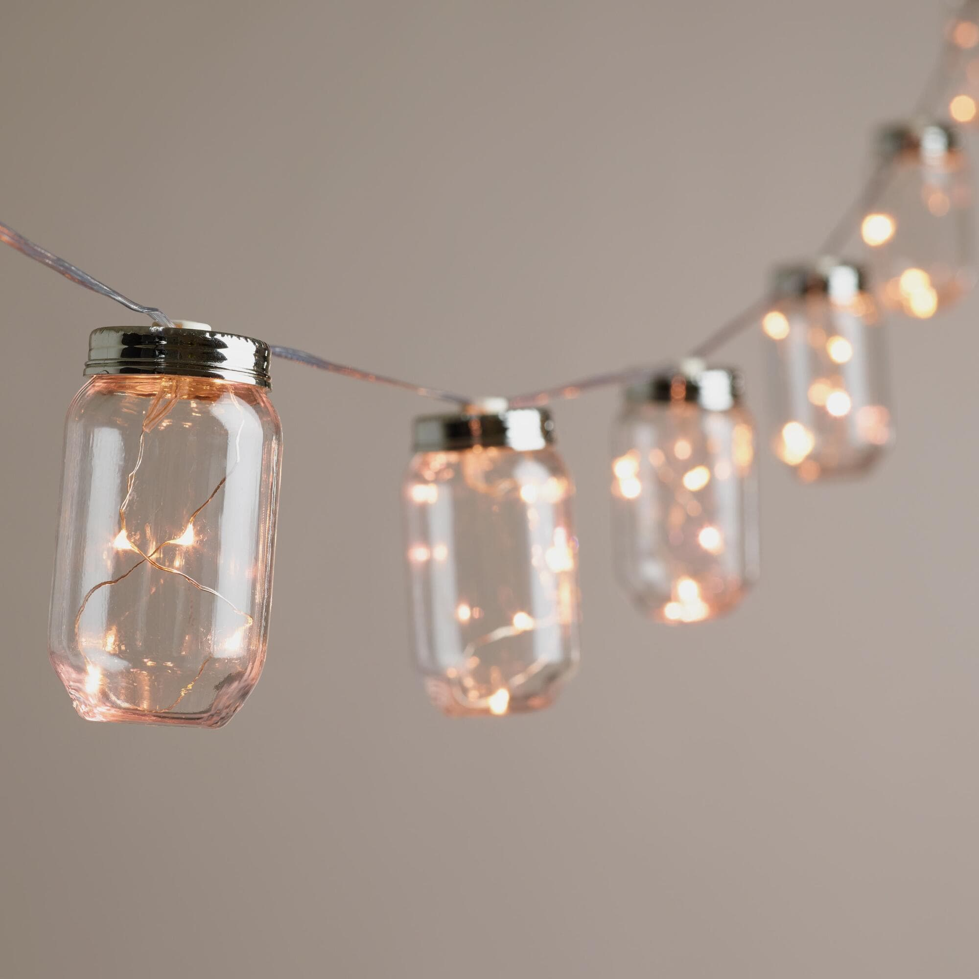Mason Jar Firefly String Lights From World Market 2499