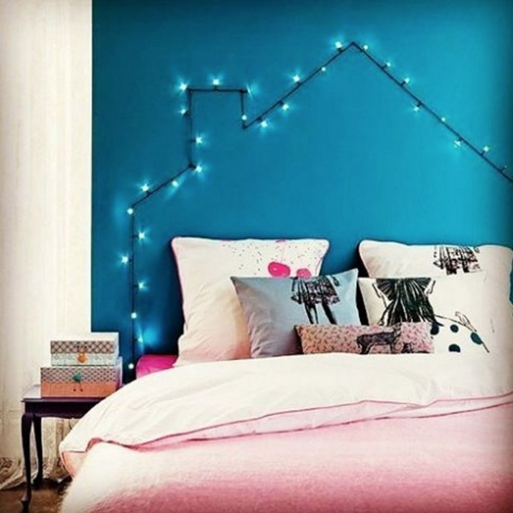 twinkle light headboard