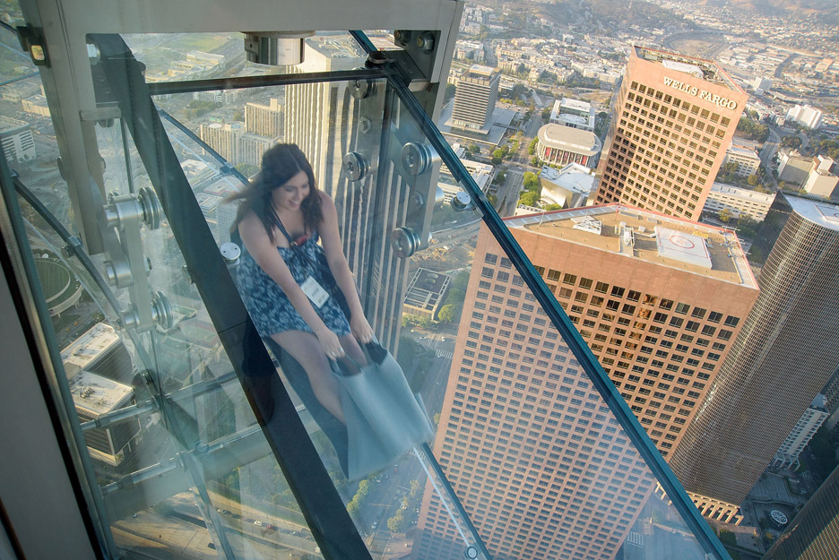 This New Slide 1 000 Feet Above La Is Definitely Not For