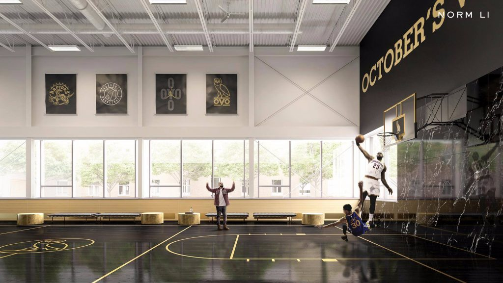 See Steph Curry And Lebron James On The Court In Drake S New Toronto Mansion