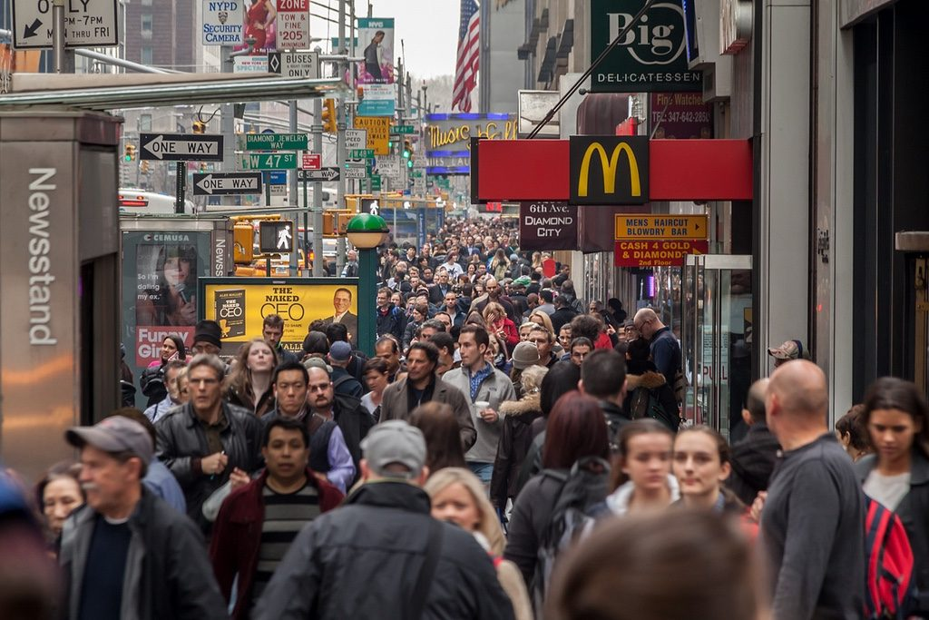 NYC Crowded Street