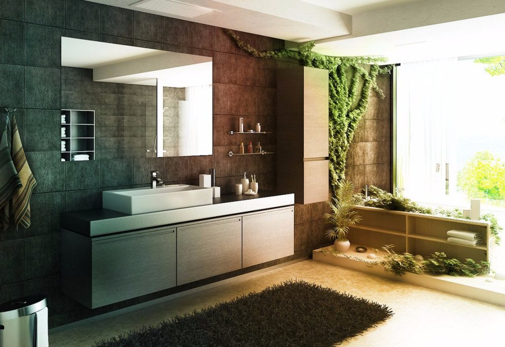plants in bathroom-compressed