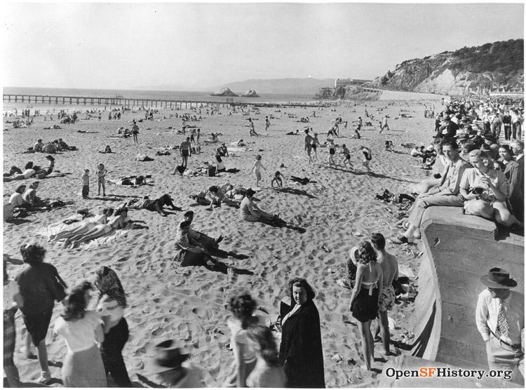 SF 1940s ocean beach