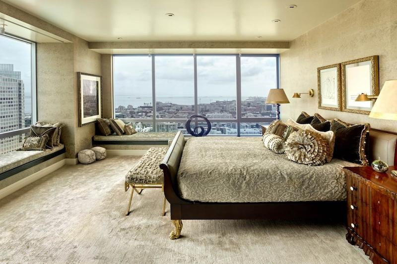 SOMA condo bedroom