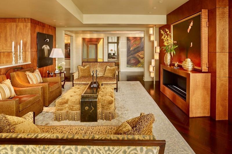 SOMA condo fireplace