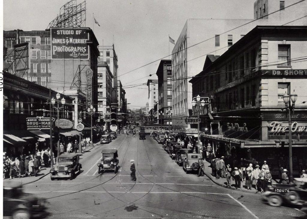 great depression seattle pike street