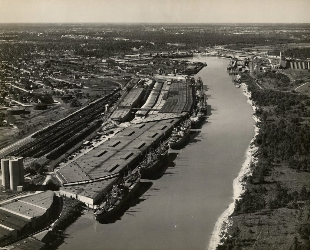 houston 1940s ship channel